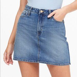 BANANA REPUBLIC || Rigid Denim Mini Skirt
